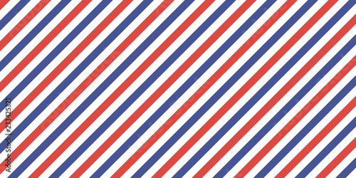 Obraz na plátně 7507822 Classic retro background diagonal stripes red blue color, vector color s