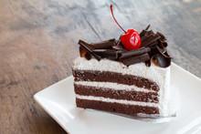 Closeup Of Chocolate Cake