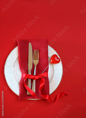 Romantic Table Setting For Valentines Day Dinner Date
