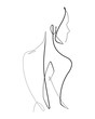Female Form Continuous Vector line Graphic