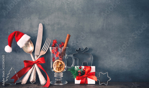Christmas dinner background