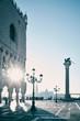canvas print picture - Dogenpalast Venedig Morgens