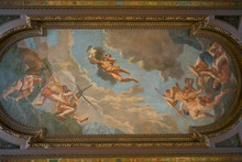Ceiling Painting In The Rotunda At New York Public Library, Midtown Manhattan, New York City, New York State, USA