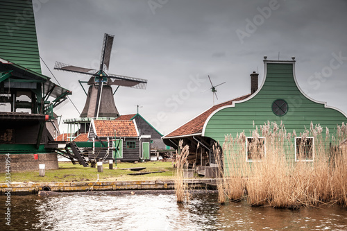 Photo Stands Kuala Lumpur Old wooden barns and windmill, Netherlands