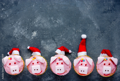 Pig Cupcakes Animal Shaped Funny Cakes For Kids Party Piggy