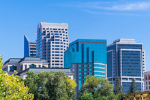 View Of The Skyscrapers In Downtown Sacramento, California