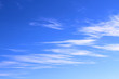 Thin white cirrus clouds. Background. Landscape.