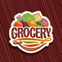Vector Logo For Grocery Store,...