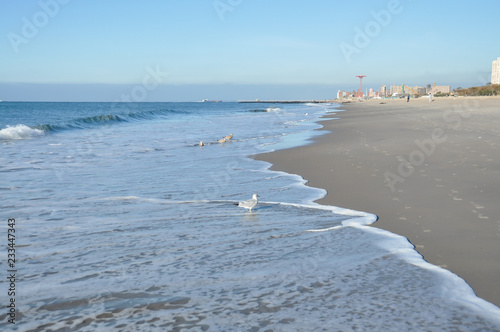 Atlantic Ocean In Brighton Beach Brooklyn New York Buy This