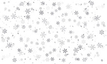 Vector Snowflakes On Transparent Background, Transparent, With Snow Flakes