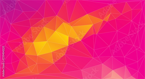 Abstract red and yellow Triangle Background, Vector EPS 10