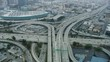 Aerial view vehicle Freeway Los Angeles California USA