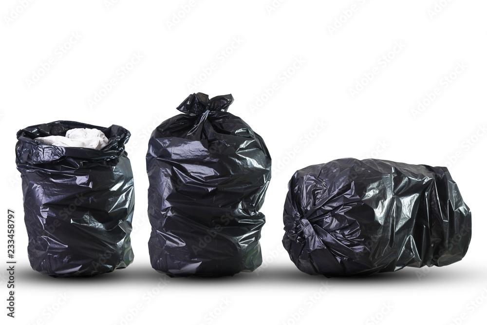 Fototapeta Tre sacchi neri per la raccolta dei rifiuti