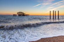 Brighton's Old West Pier At Su...