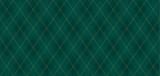 Argyle wektor wzór. Ciemnozielony z cienką, cienką linią w złote kropki. Bezszwowe żywe geometryczne tło dla tkaniny, tkaniny, odzież męska, papier pakowy. Tło Mała karta zaproszenie na dżentelmena - 233464107