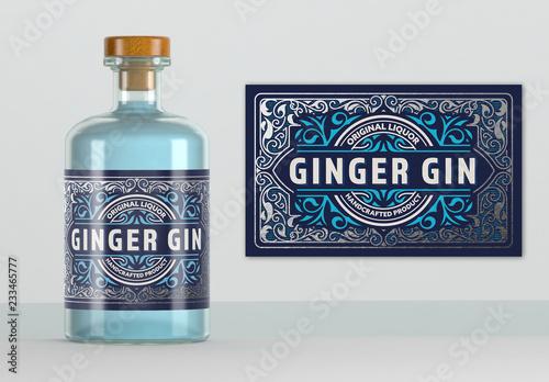 Vintage Style Liquor Label Layout