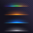 Glowing lines, lights, abstract elements, light sources below