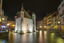 Annecy Castle At Night