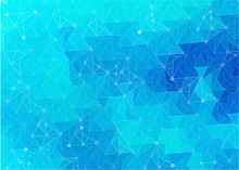 Abstract Stylized Background Of Triangles Piece Of Ice. Abstract Vector Background. Template For Style Design. Lowpoly Vector Illustration. Used Transparency Layers Of Background