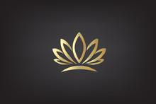 Logo Gold Lotus Vector
