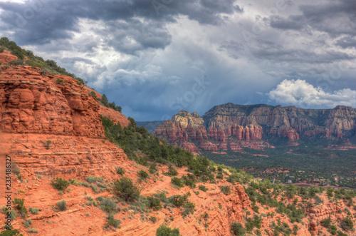 Foto op Canvas Arizona Sedona and the Rain