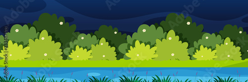 Deurstickers Lime groen Nature landscape at night