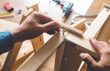 Man Assembly Wooden Furniture,...
