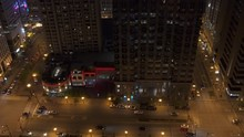 Chicago Aerial Night View Of W...