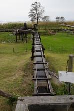水路 水車 水の流れ 溝 のどかな 農場