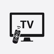 Smart TV With Remote Control Icon