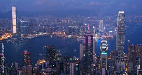 Hong-Kong Hong kong city at sunset time