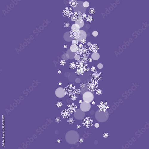 Snowflake Banner With Ultraviolet Snow New Year Backdrop Winter Border For Gift Coupons Vouchers Ads Party Events Christmas Trendy Background Holiday Banner With Snowflake Banner Buy This Stock Vector And Explore