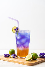 Butterfly Pea Juice With Honey...