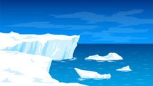 Antarctica, Landscape With Gla...