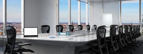 Fotografie, Obraz  Moderner Business Tagungsraum mit Laptop Computer