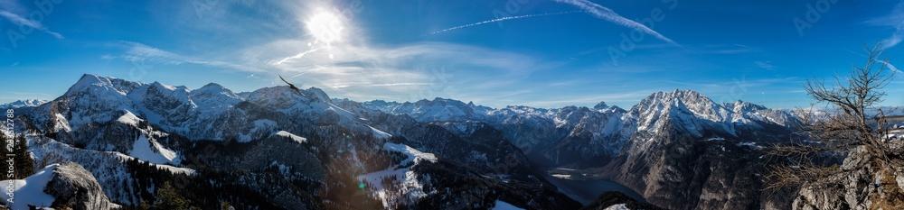Fototapeta Panorama am Jenner im Berchtesgadener Land