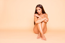Full Legs Body Size Portrait Of Long Hair Gorgeous Adorable Lady