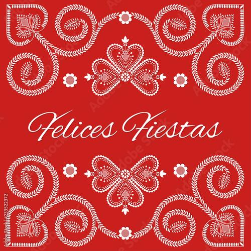 Fotografija  Folk art Christmas card vector template
