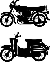 Silhouette East Germany Scooter