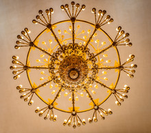 View Of A Ceiling Chandelier