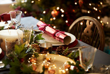 Christmas Table Setting With A...
