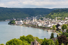 Famous Popular Wine Village Of Boppard At Rhine River,middle Rhine Valley