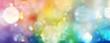 canvas print picture - Banner Regenbogenlicht