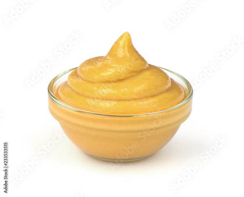 Fotografia mustard sauce in the bowl