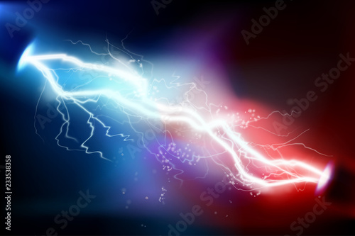 Carta da parati Heat lighting. Electric discharge. Vector illustration.