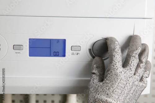 Photo  doğal gaz kombi ısıtma sistemleri enerji verimliliği ve tasarruf önlemleri