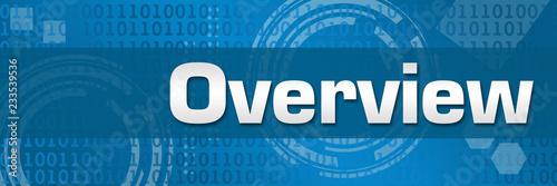 Obraz na plátně Overview Blue Technology Binary Background