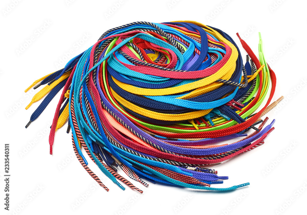 Fototapety, obrazy: Multi-colored shoe laces