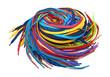Leinwanddruck Bild - Multi-colored shoe laces