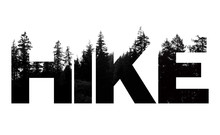Hike Word Made From Outdoor Wilderness Treetop Lettering